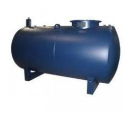 Cilindrische stalen brandstof tank inhoud 600 liter kiwa gekeurd