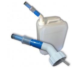 AdBlue schenktuit met extra lange hals voor gebruik op conventionele jerrycan
