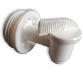 Tapkraan plastic voor 60 en 200 liter vaten 2 inch tri sure schroefdraad